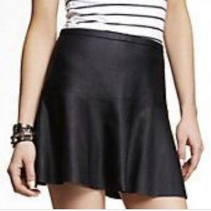 Express black faux leather skater skirt XS